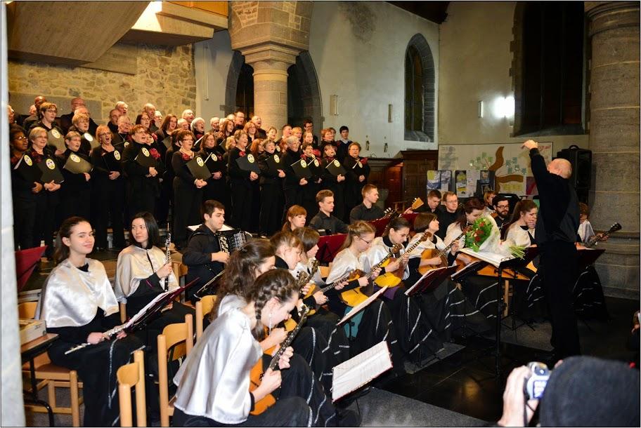 24 janvier 2015 : Concert Lessines avec les  Petis Chanteurs et les Cordes d'Argent de St. Pétersbourg