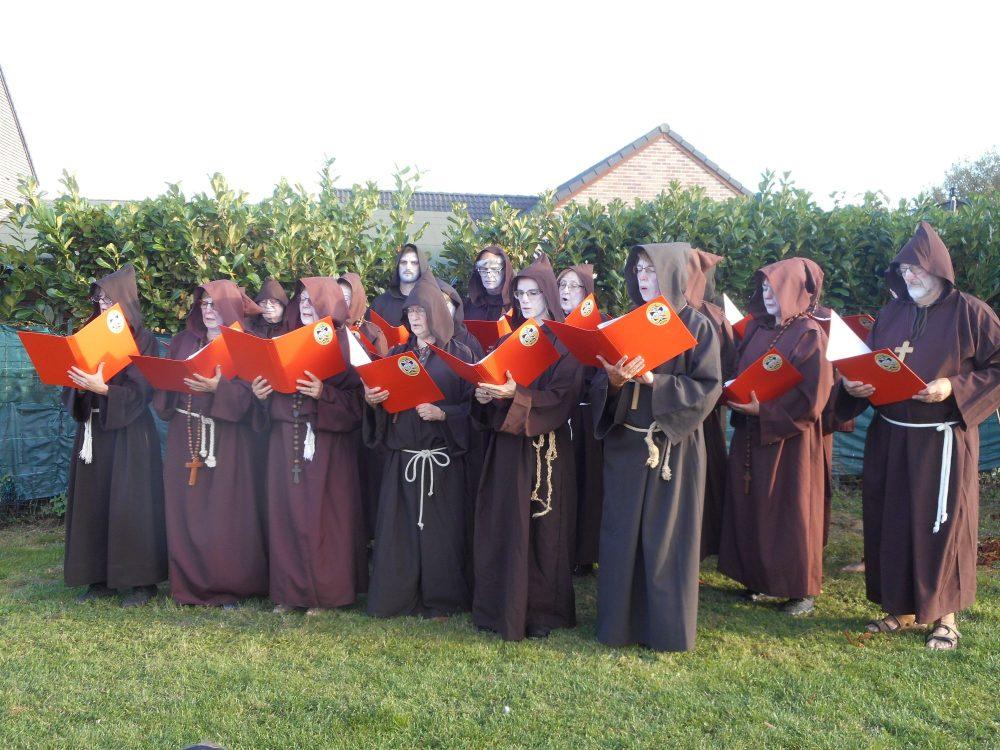Les moines à Colfontaine 13 octobre 2018